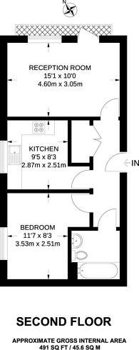 Large floorplan for Holland Gardens, Brentford, TW8