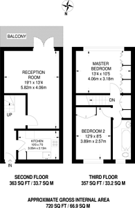 Large floorplan for Lisgar Terrace, West Kensington, W14