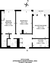 Large floorplan for Adventurers Court, Canary Wharf, E14