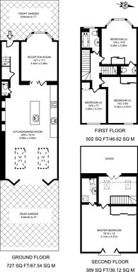 Large floorplan for Elborough Street, Southfields, SW18