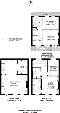 Large floorplan for Spear Mews, Earls Court, SW5