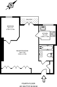 Large floorplan for Abbey Road, St John's Wood, NW8
