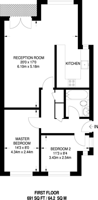Large floorplan for Newlands Quay, Wapping, E1W
