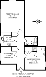 Large floorplan for Palladium Court, Hackney, E8