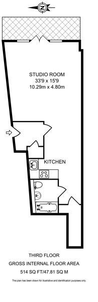 Large floorplan for Kingsway Square, Battersea, SW11