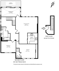 Large floorplan for Netherhall Gardens, Hampstead, NW3