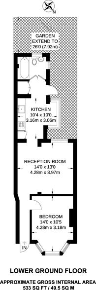 Large floorplan for Moffat Road, Thornton Heath, CR7