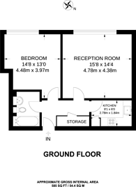 Large floorplan for Peckham Grove, Peckham, SE15