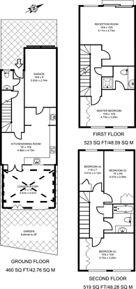 Large floorplan for Tyrrell Square, Colliers Wood, CR4
