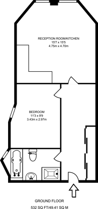 Large floorplan for Clive Court, Maida Vale, W9