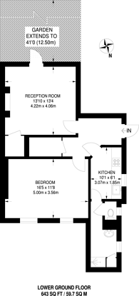 Large floorplan for Finchley Road, St John's Wood, NW8