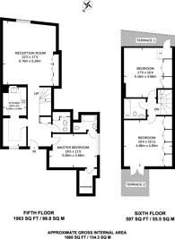 Large floorplan for Jamestown Road, Camden, NW1