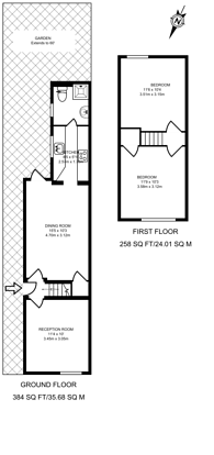 Large floorplan for Ludlow Road, Guildford, GU2