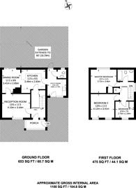 Large floorplan for Three Gates, Merrow, GU1