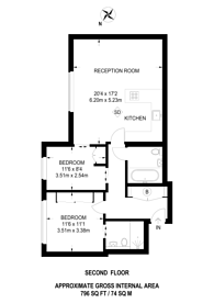 Large floorplan for Babmaes Street, St James's, SW1Y