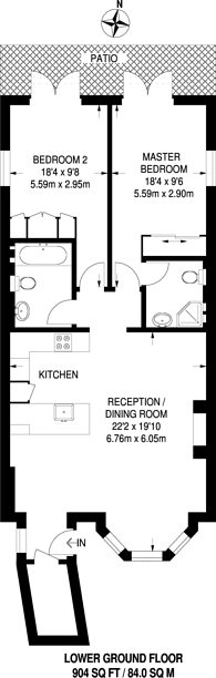Large floorplan for Fellows Road, Belsize Park, NW3