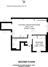 Large floorplan for St Johns Road, Golders Green, NW11