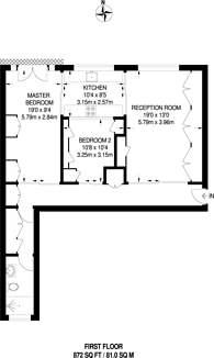 Large floorplan for Hoxton Square, Hoxton, N1