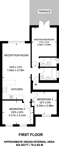 Large floorplan for St Johns Road, Temple Fortune, NW11