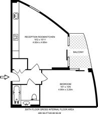 Large floorplan for Park Village East, Mornington Crescent, NW1