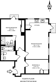 Large floorplan for Churchway, Euston, NW1