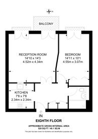 Large floorplan for Vanguard Building, Isle Of Dogs, E14