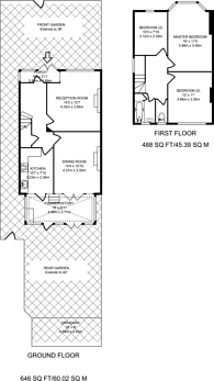 Large floorplan for Bushey Road, Raynes Park, SW20