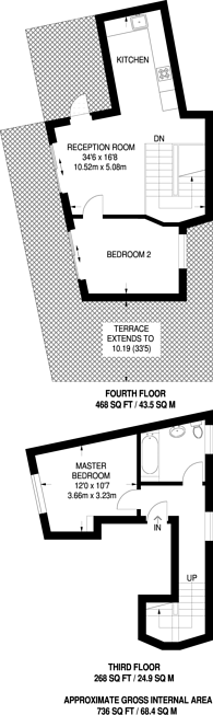 Large floorplan for Caledonian Road, Barnsbury, N1