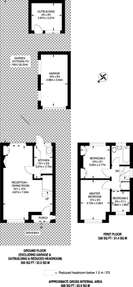 Large floorplan for Belsize Road, Harrow Weald, HA3