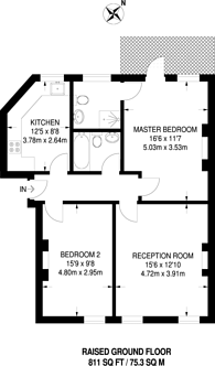 Large floorplan for Broad Court, Covent Garden, WC2B