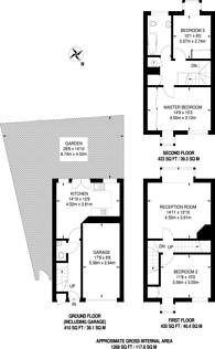 Large floorplan for Barnfield Place, Isle Of Dogs, E14
