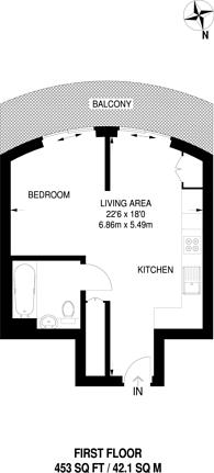 Large floorplan for Hoola, Royal Docks, E16