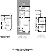 Large floorplan for Portsmouth Road, Surbiton, KT7