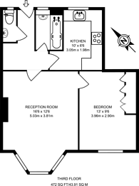 Large floorplan for Hatton Street, Marylebone, NW8