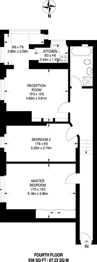 Large floorplan for Hurlingham Court, Hurlingham, SW6