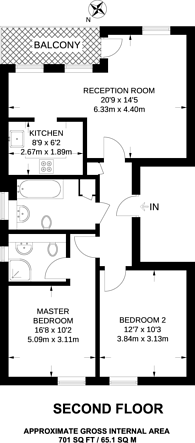 Large floorplan for Fitzwilliam Close, Whetstone, N20