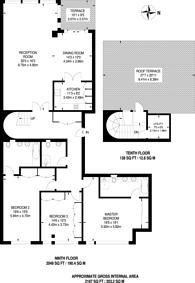 Large floorplan for Queenstown Road, Battersea Park, SW11