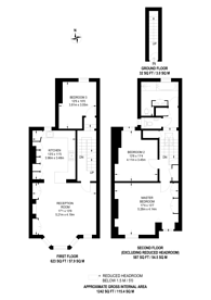 Large floorplan for Cotleigh Road, West Hampstead, NW6