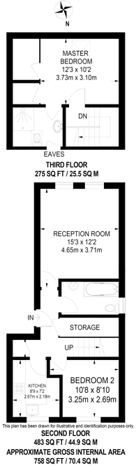 Large floorplan for Milton Close, Bermondsey, SE1