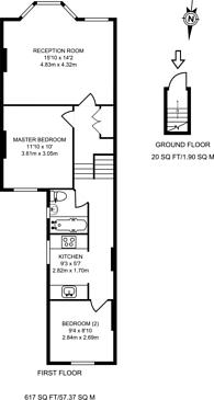 Large floorplan for Clova Road, Forest Gate, E7