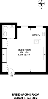Large floorplan for Talgarth Road, Barons Court, W14