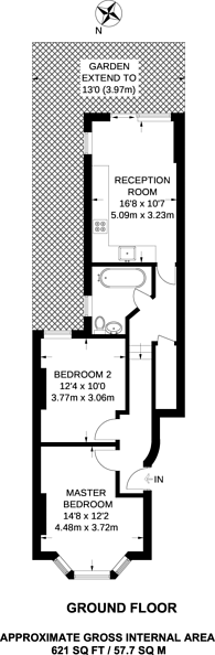 Large floorplan for Balfern Grove, Chiswick, W4
