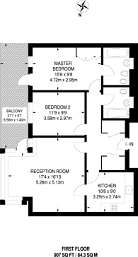 Large floorplan for Anchorage Point, Docklands, E14