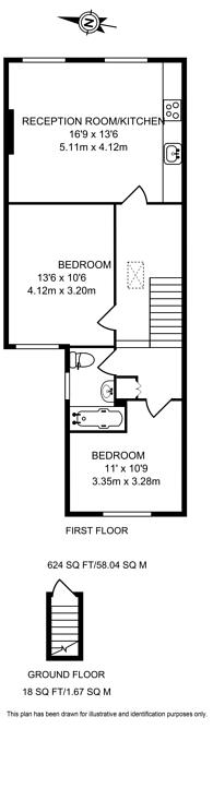 Large floorplan for Devonshire Road, Chiswick, W4