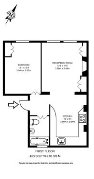 Large floorplan for Harrow Road, Kensal Green, NW10