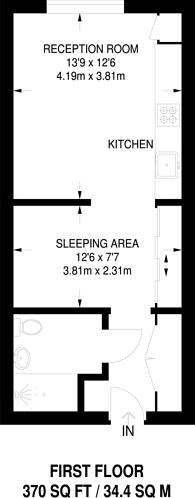 Large floorplan for Queensland Road, Holloway, N7