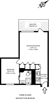 Large floorplan for Munster Square, Camden, NW1