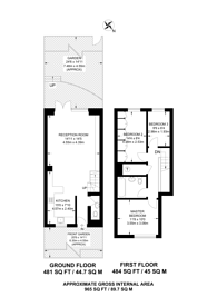 Large floorplan for Wesley Square, Notting Hill, W11