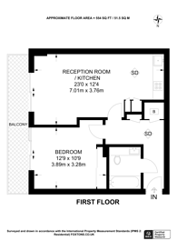 Large floorplan for New River Village, Hornsey, N8