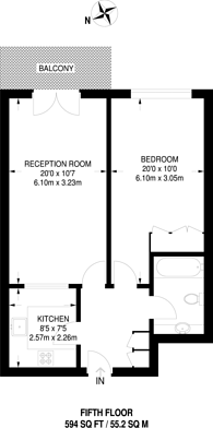 Large floorplan for Jardine Road, Wapping, E1W